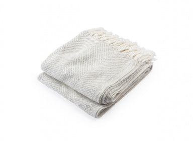 Newfield Heather Twist Throw by Brhams Mount | Fig Linens