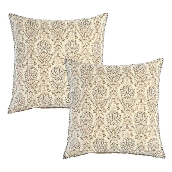 Ninna Metallic Throw Pillow Pair by John Robshaw | Fig Linens and Home