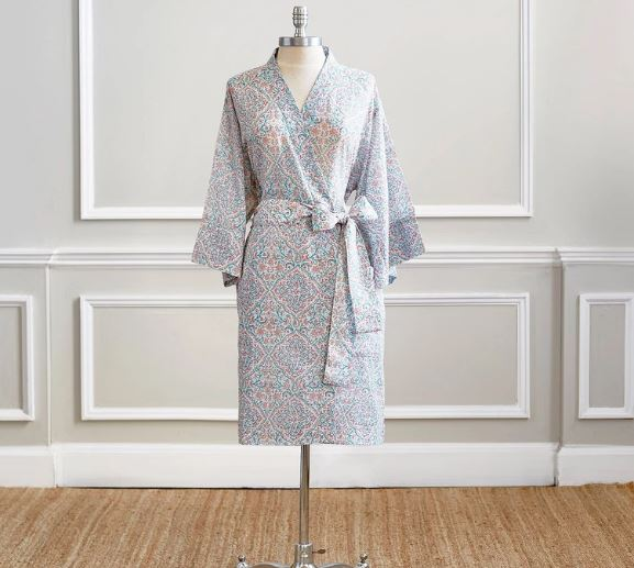 Patta Coral Robe by John Robshaw | Fig Linens and Home