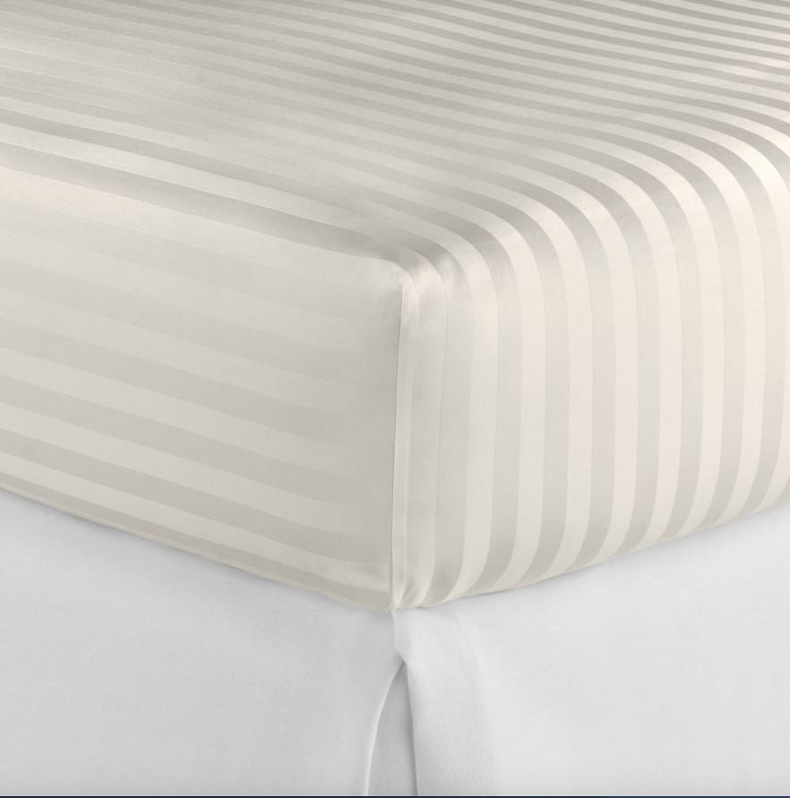 Fig Linens - Peacock Alley Duet 2 Ivory Fitted Sheets