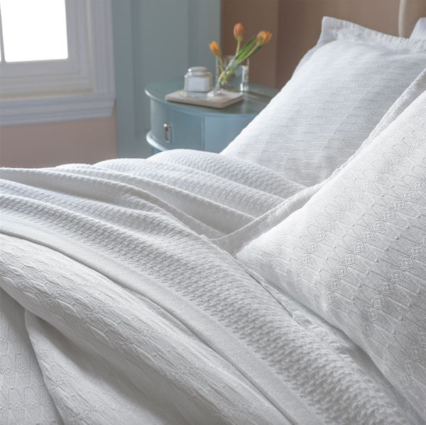 Newport Cotton Blanket by Peacock Alley | Fig Linens