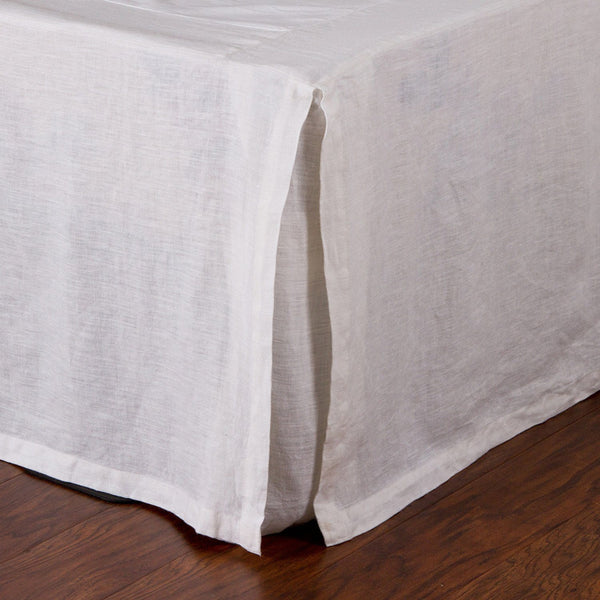 Fig Linens - Pom Pom at Home Bedding - White pleated bed skirt
