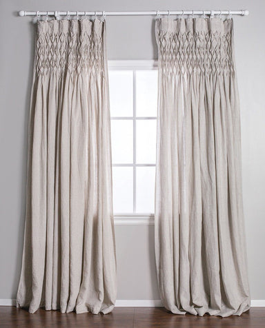 Pom Pom at Home - Smocked Sheer Flax Linen Curtains | Fig Linens