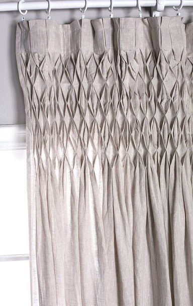 Pom Pom at Home - Smocked Top Sheer Flax Curtains | Fig Linens