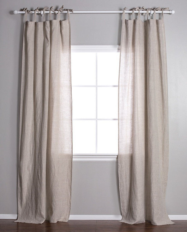 Pom Pom at Home - Flax Linen Curtains with Tie Top | Fig Linens