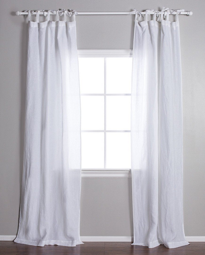 Pom Pom at Home - White Linen Curtains | Fig Linens