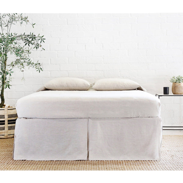 Pom Pom at Home - Pleated Linen Bed Skirt in Flax | Fig Linens