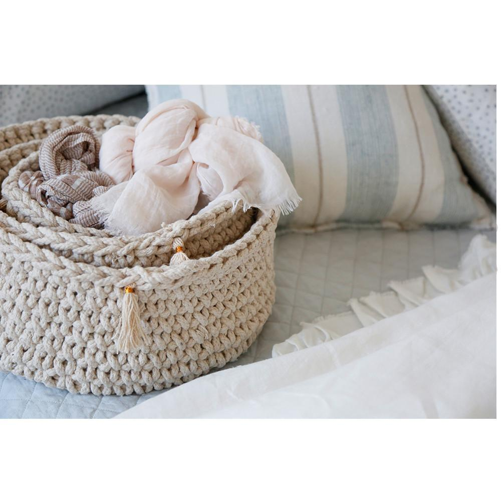 Fig Linens - Pom Pom at Home - Baya Decorative Storage Baskets