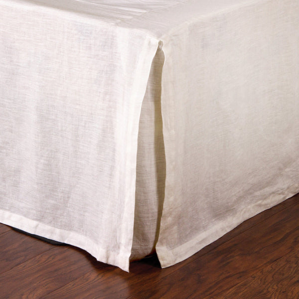 Pom Pom at Home - Pleated Linen Bed Skirt in Cream | Fig Linens