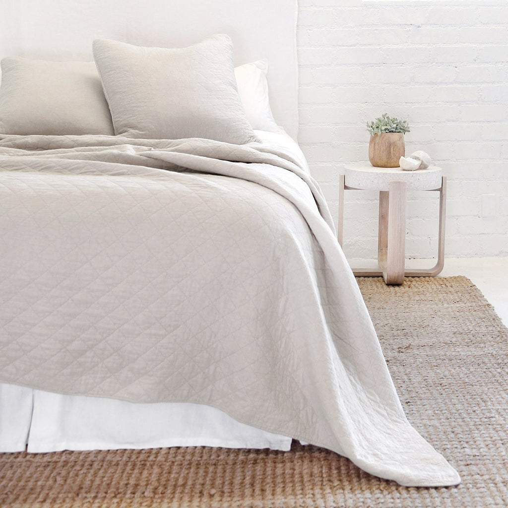 Pom Pom at Home - Huntington Taupe Coverlet Collection | Fig Linens