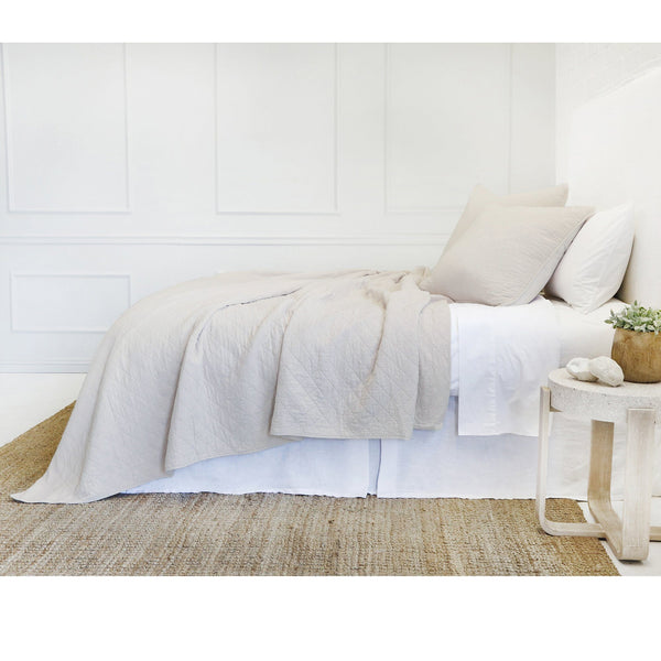 Fig Linens - Pom Pom at Home Bedding - Huntington Taupe coverlets and sham
