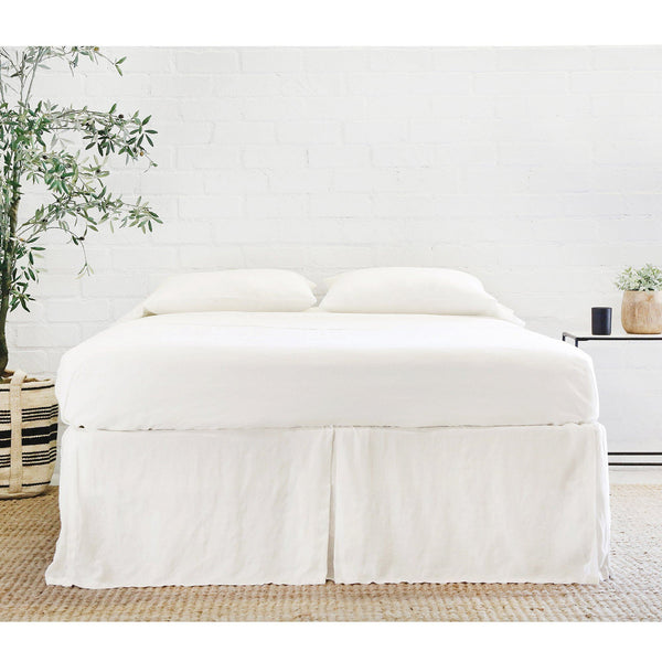 Pom Pom at Home Bedding - Pleated Linen Bed Skirt in Cream | Fig Linens