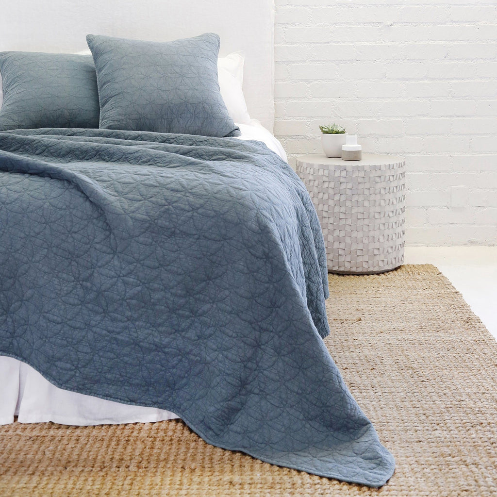 Pom Pom at Home - Oslo Blue Denim Coverlet Collection | Fig Linens