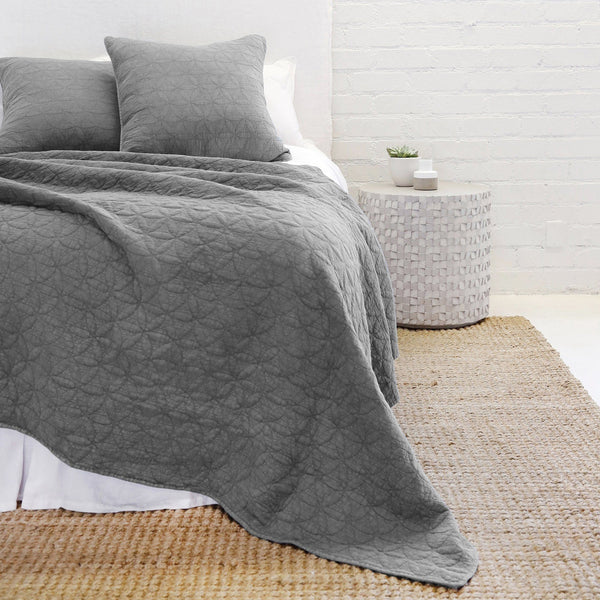 Pom Pom at Home - Oslo Grey Denim Coverlet Collection | Fig Linens
