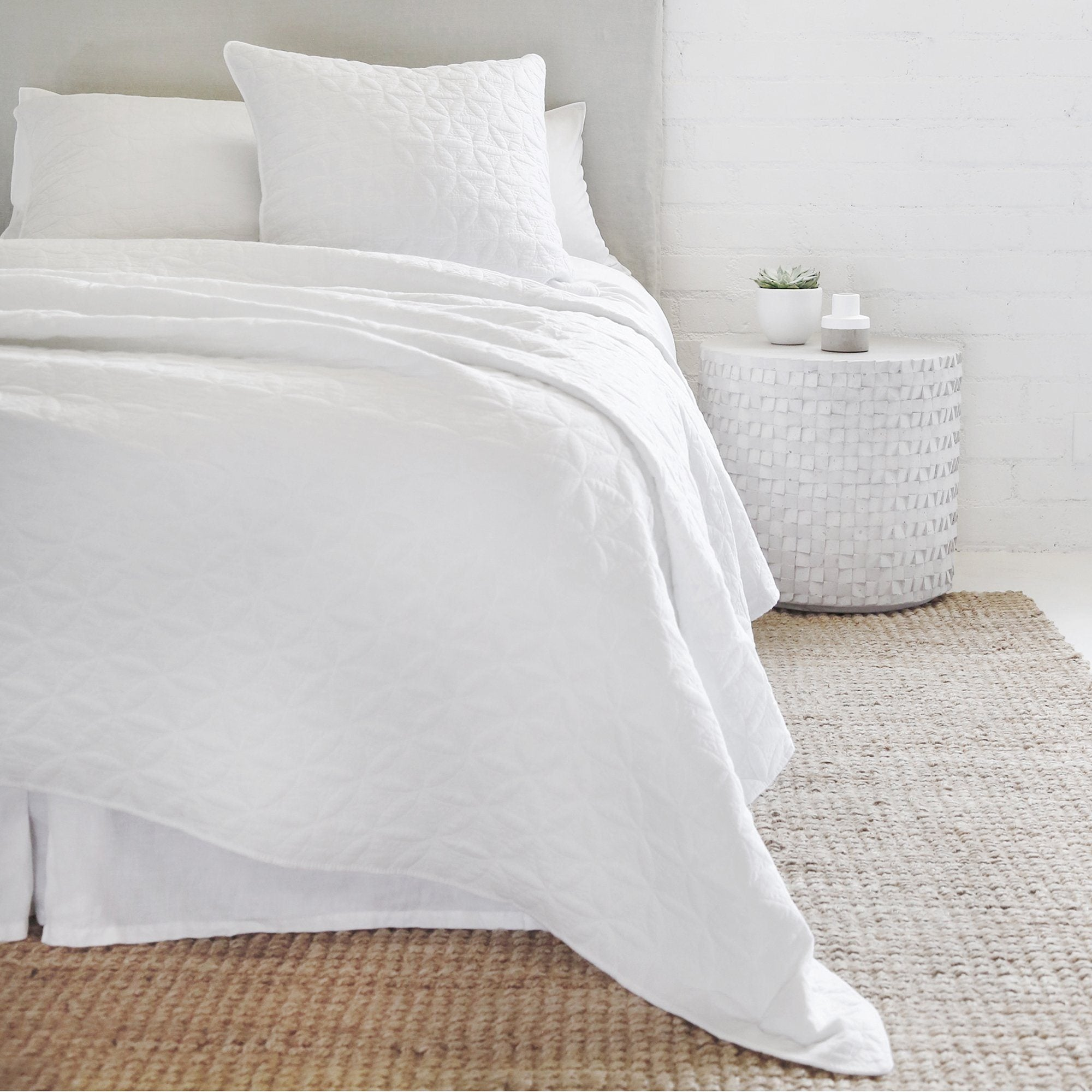 Oslo White Coverlet Collection Fig Linens And Home