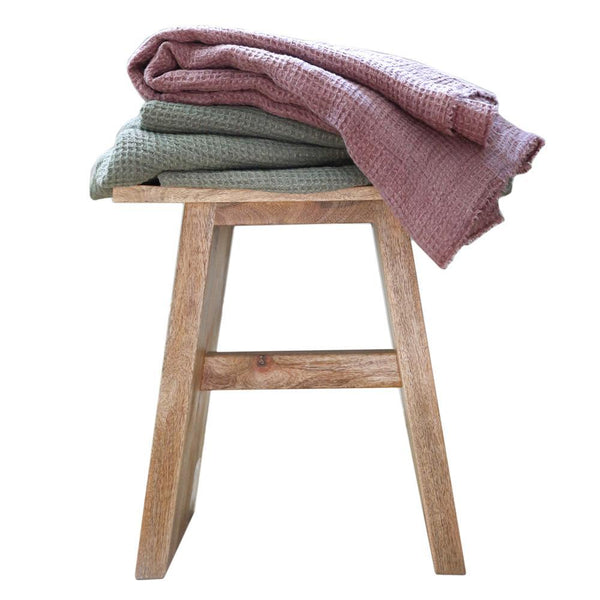 Pom Pom at Home - Venice Moss Oversized Throw | Fig Linens