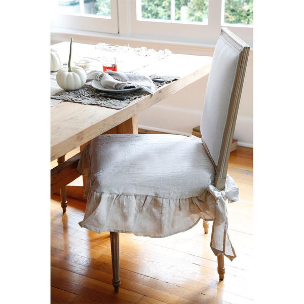 Pom Pom at Home - Ruffled Flax Seat Covers | Fig Linens