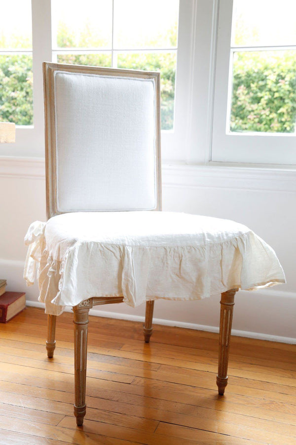 Pom Pom at Home - Ruffled White Seat Covers | Fig Linens
