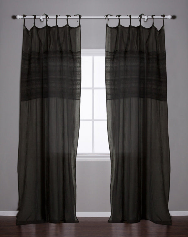 Pom Pom at Home - Olivia Midnight Curtain | Fig Linens