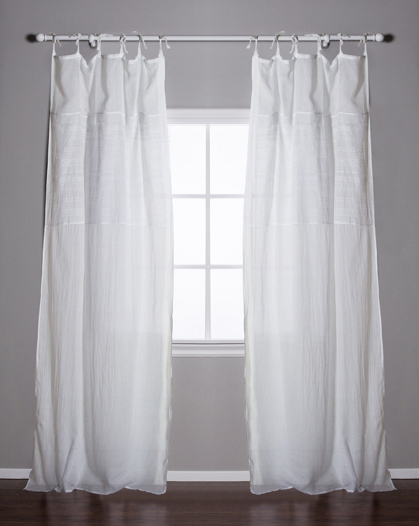 Pom Pom at Home - Olivia White Curtains | Fig Linens