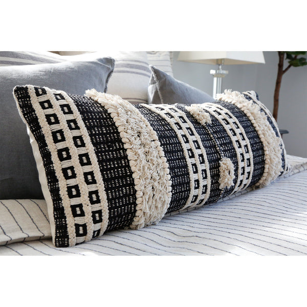 Fig Linens - Pom Pom at Home Sawyer Pillow - Textured Accent Pillow