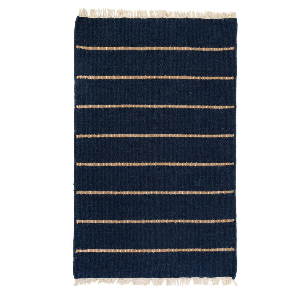 Pom Pom at Home - Warby Navy Wool Rugs | Fig Linens