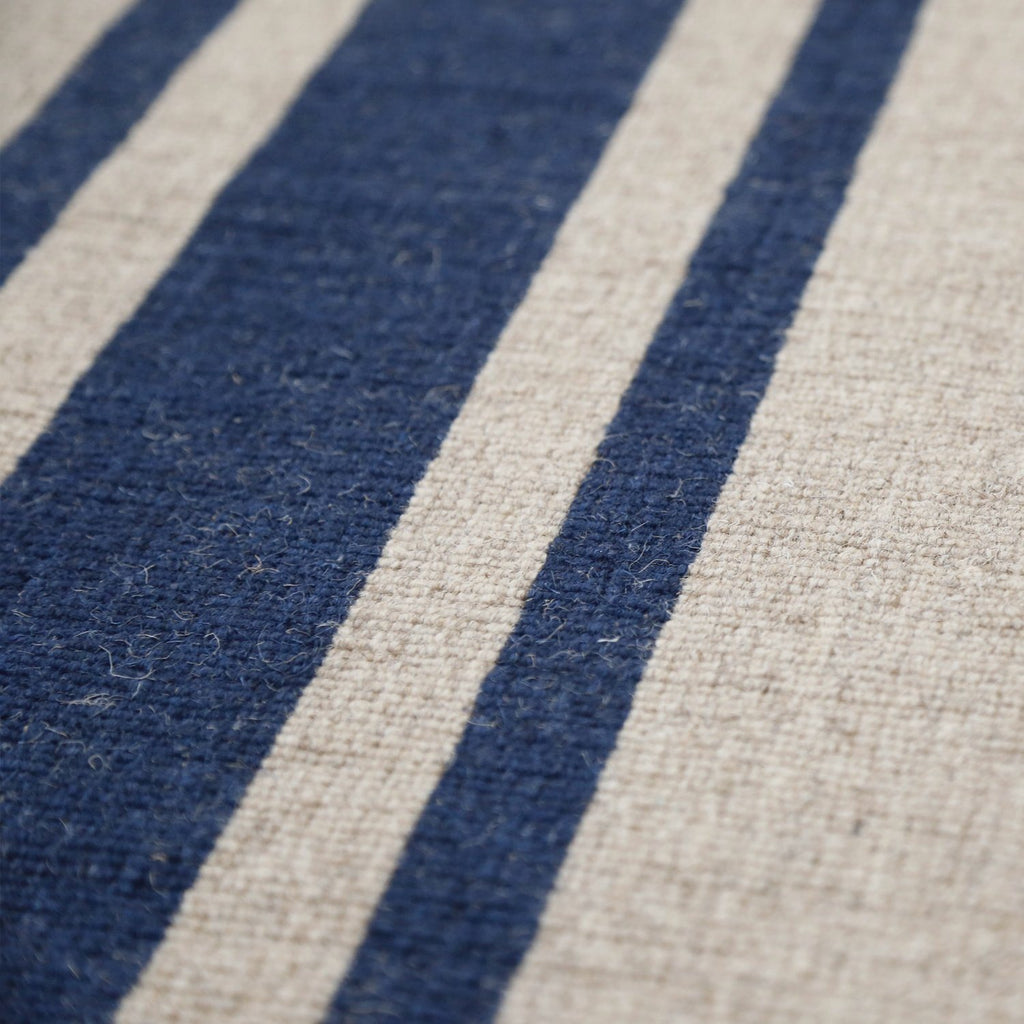 Pom Pom at Home Accessories - Beachwood Natural & Navy Rug | Fig Linens