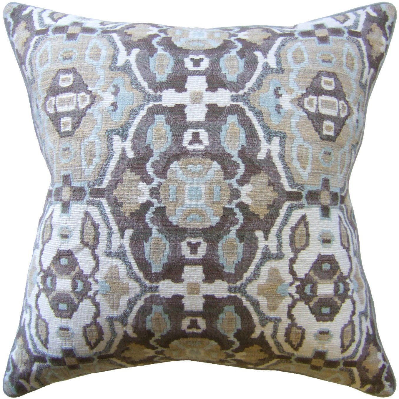Fig Linen - Cabrillo Robin's Egg Pillow - Decorative Pillows at Fig Linens