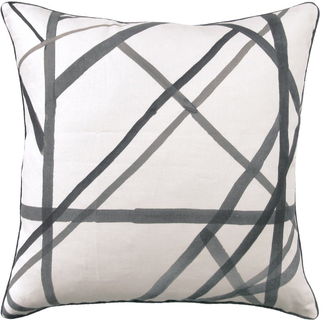 Channels Ebony Pillow by Ryan Studio | Fig Linens