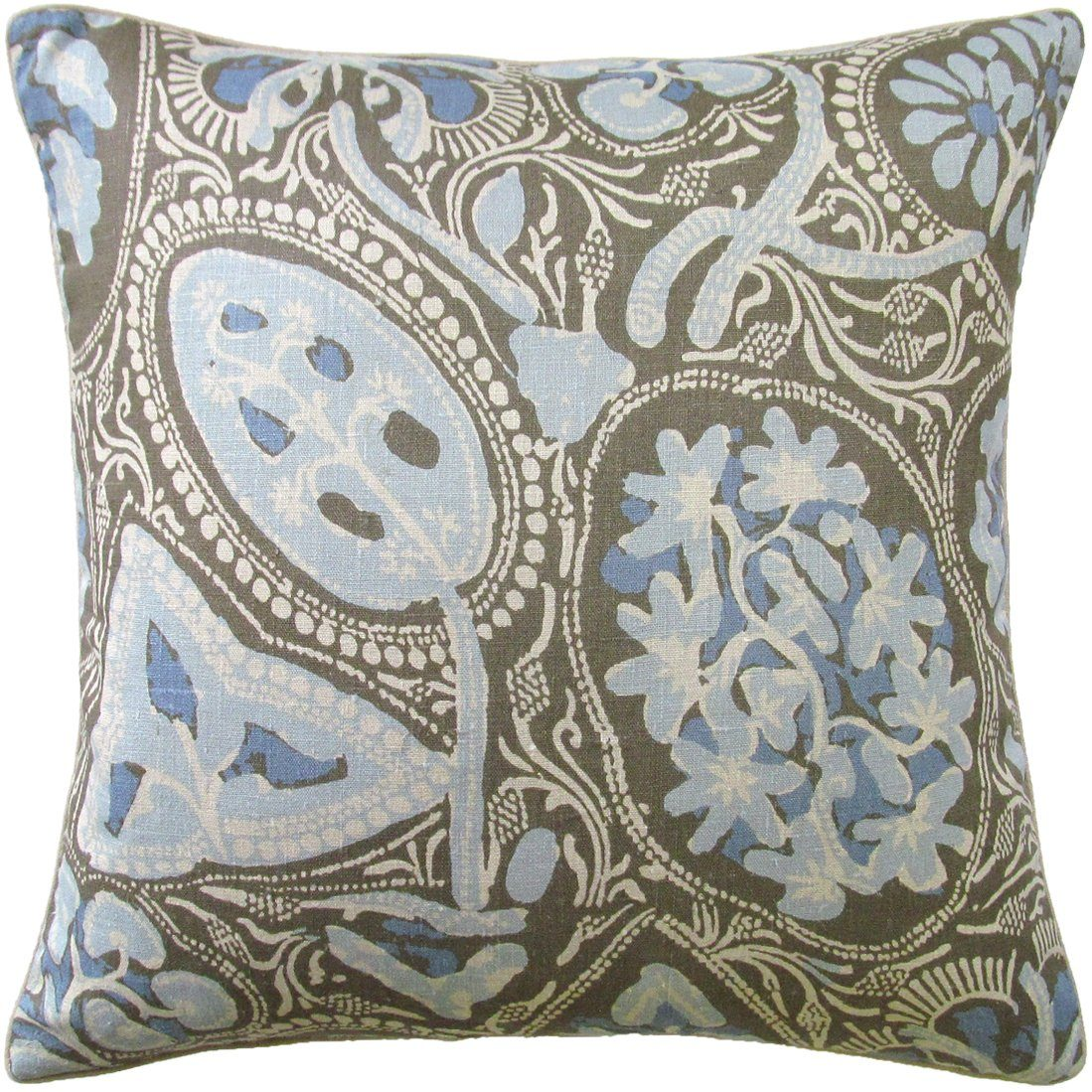 Cochin Brown Pillow by Ryan Studio | Fig Linens and Home