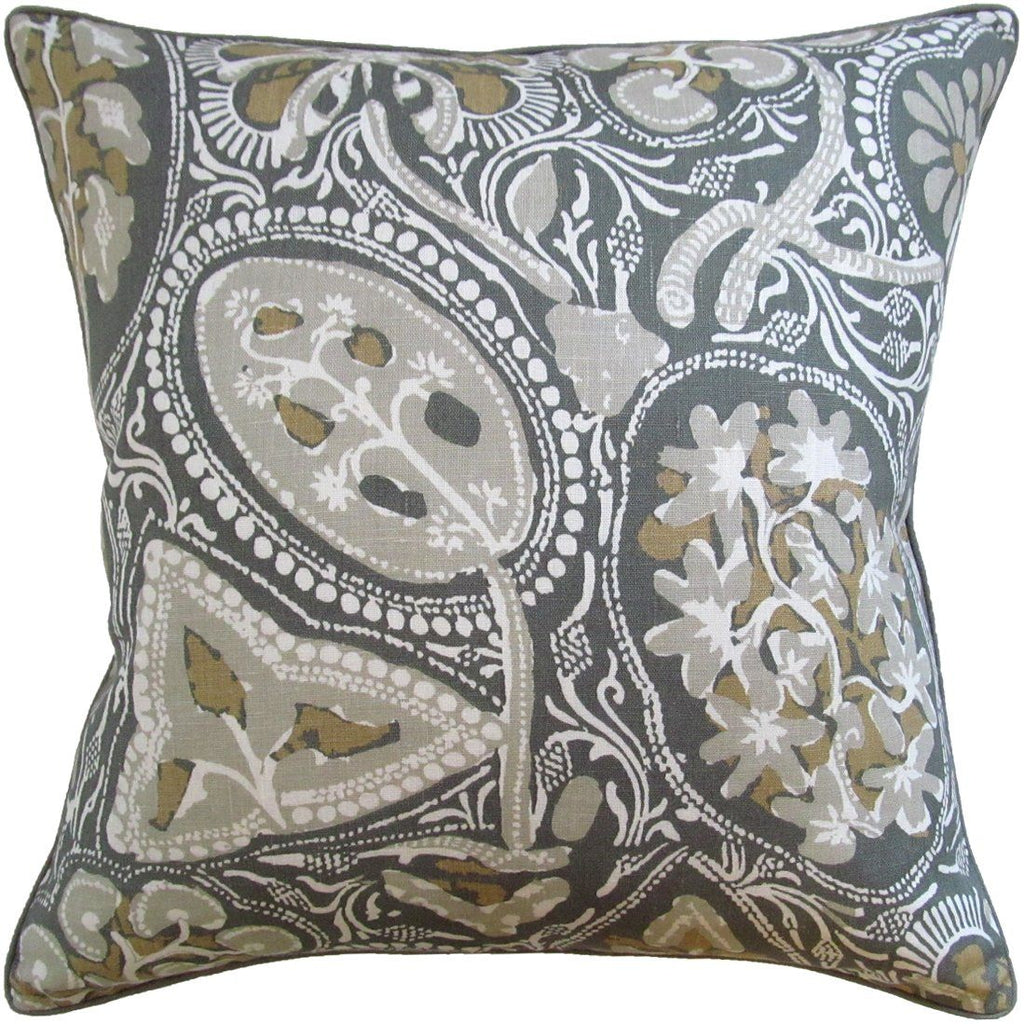Cochin Grey Pillow by Ryan Studio | Fig Linens and Home
