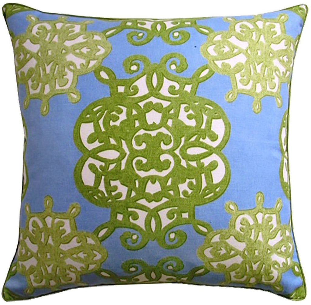 Jakarta Blue & Green Pillow by Ryan Studio | Fig Linens and Home