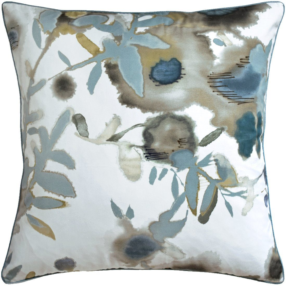 Open Spaces Pillow in Beige & Teal by Ryan Studio | Fig Linens