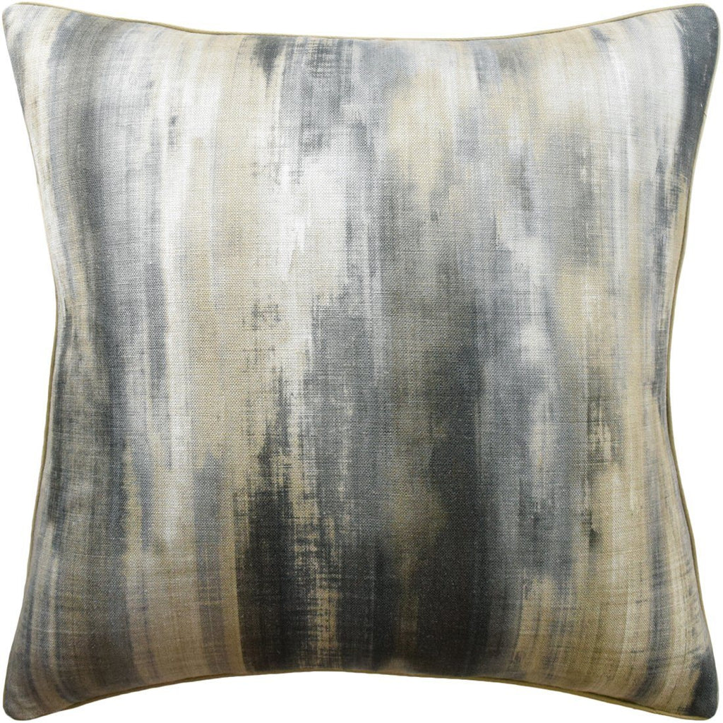 Linen/Charcoal Falling Water Pillow by Ryan Studio | Fig Linens