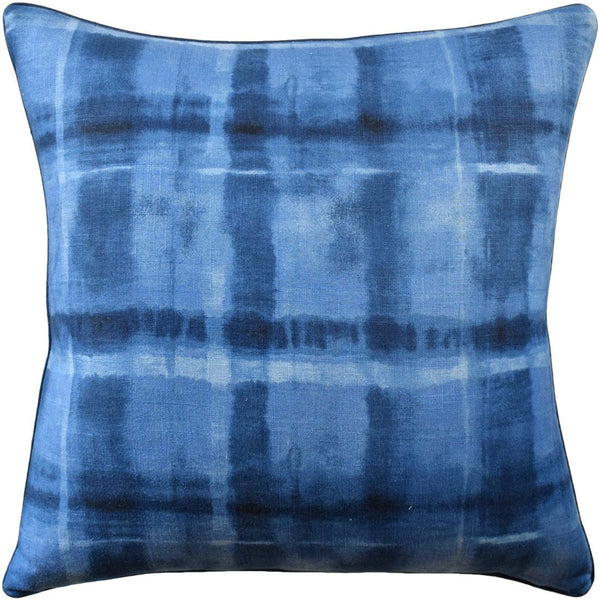 Arno Indigo Decorative Pillow at Fig Linens
