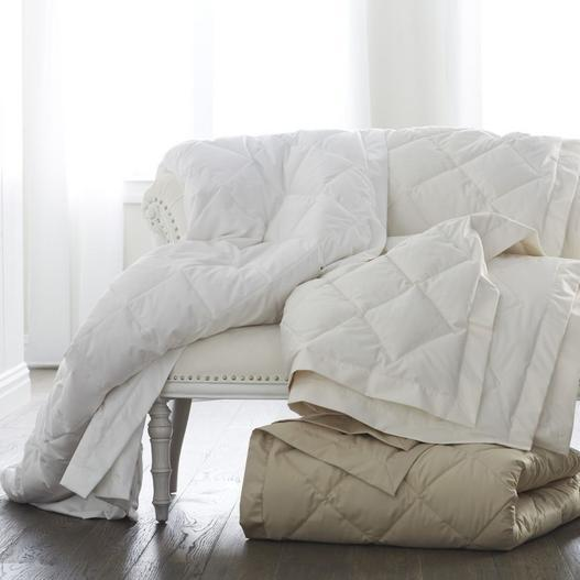 Diamond Quilted Down Blanket by Scandia Home | Fig Linens
