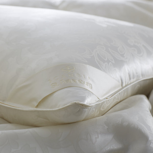 St. Petersburg White Goose Down Pillow by Scandia Home | Fig Linens