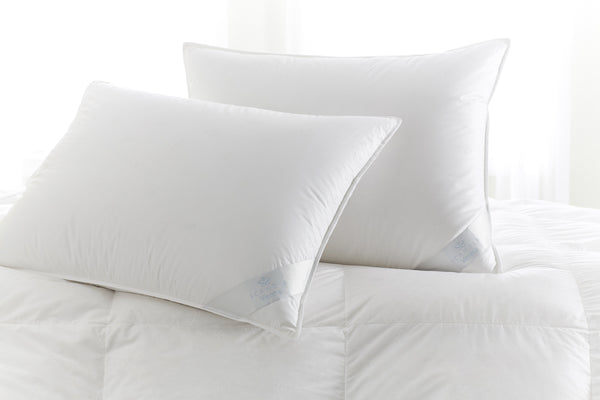 Vienna White Goose Down Pillow by Scandia Home | Fig Linens