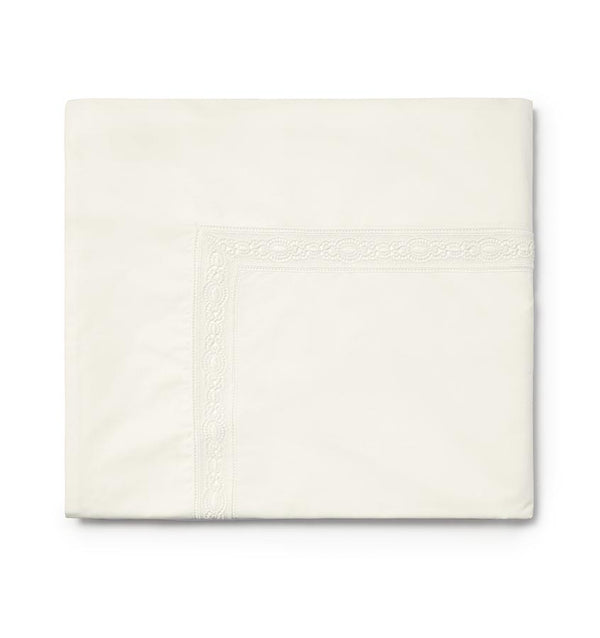 Ivory Giza 45 Lace Luxury Sheet Set by Sferra | Fig Linens