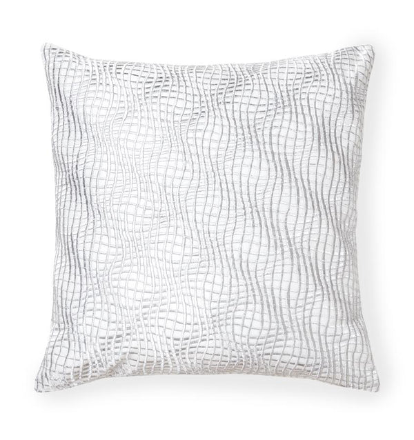 Illusione Silver Decorative Pillow by Sferra | Fig Linens and Home