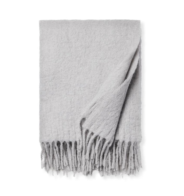 Motto Grey Throw Blanket by Sferra | Fig Linens and Home