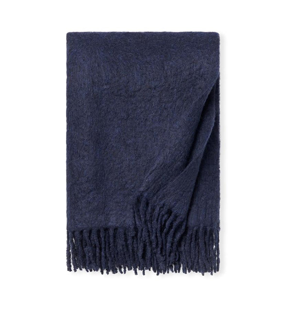 Motto Navy Throw Blanket by Sferra | Fig Linens and Home