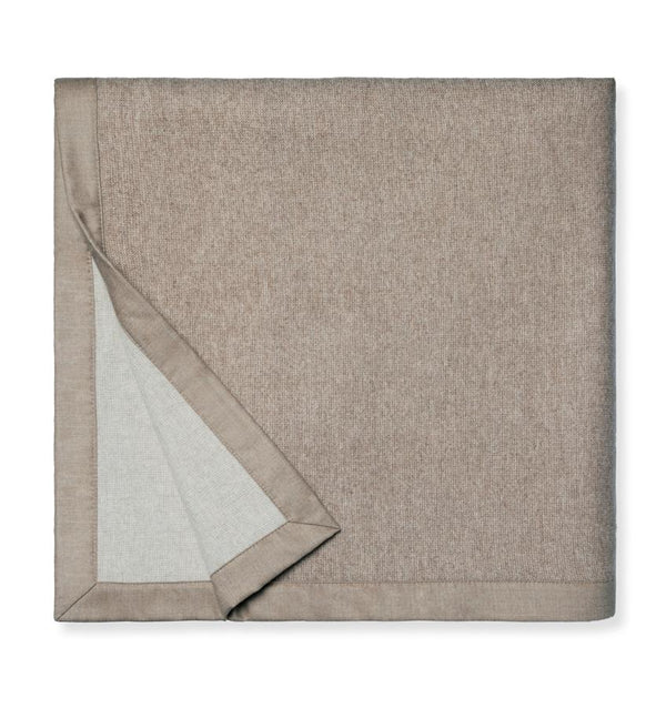 Nerino Cashew & Ivory Wool Blanket by Sferra | Fig Linens and Home