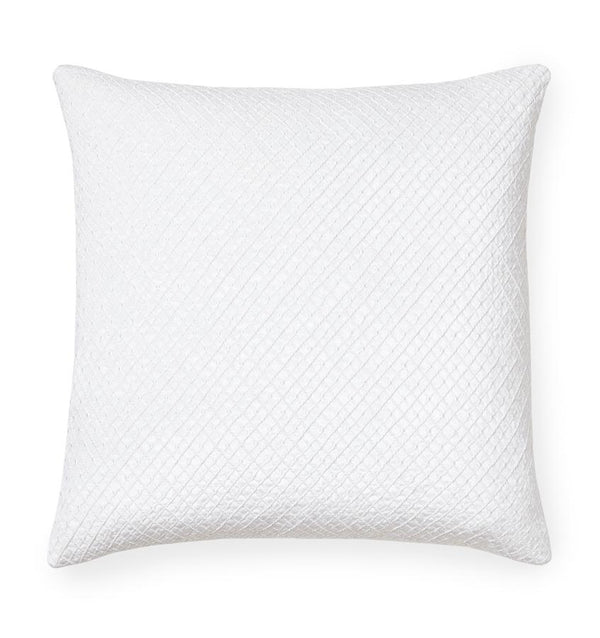Traliccio White Decorative Pillow by Sferra | Fig Linens and Home