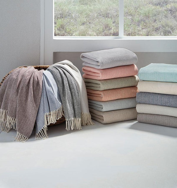 Celine Throws by Sferra - Shop Cotton Throws at Fig Linens