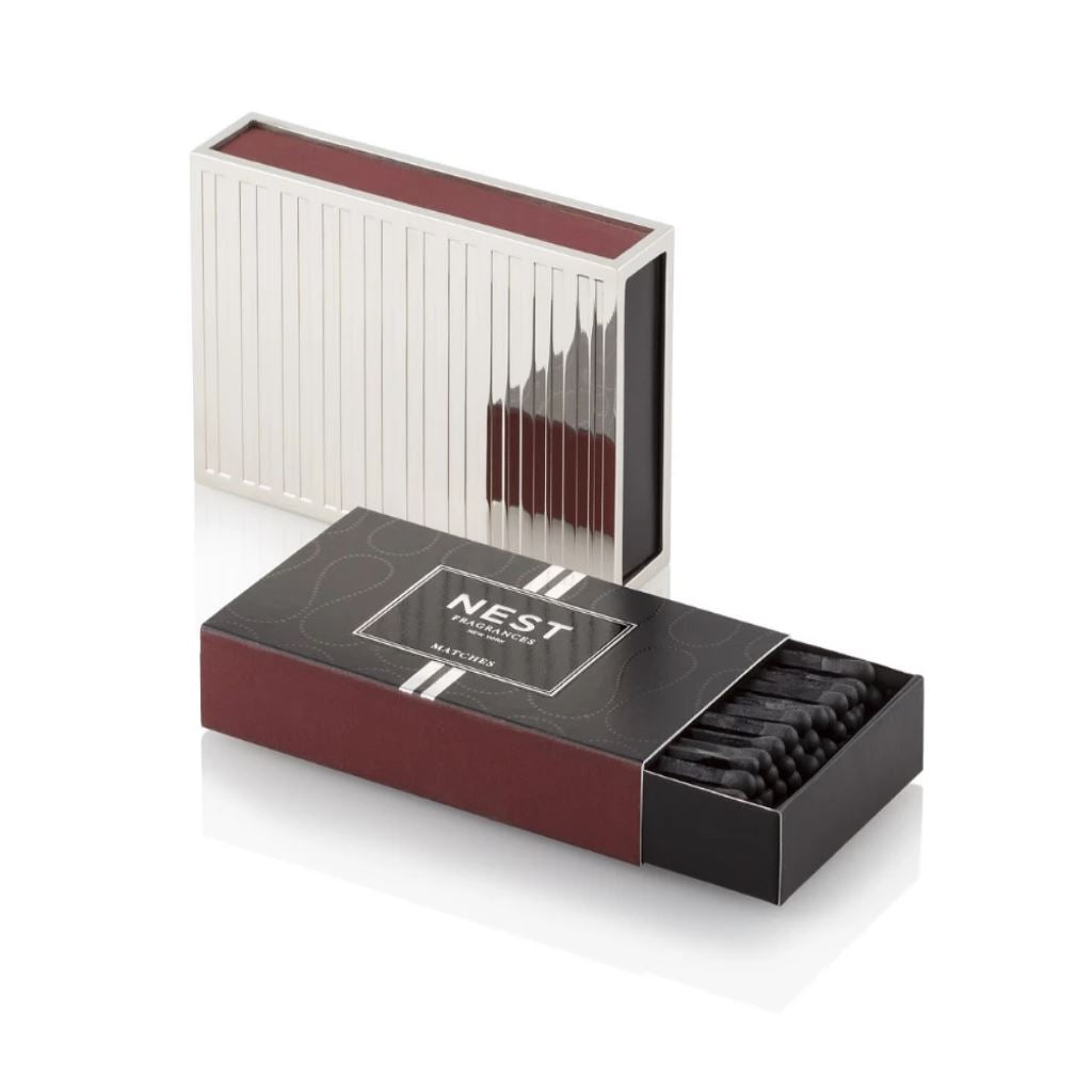 Nest Silver Matchbox Holder with Matches | Fig Linens and Home