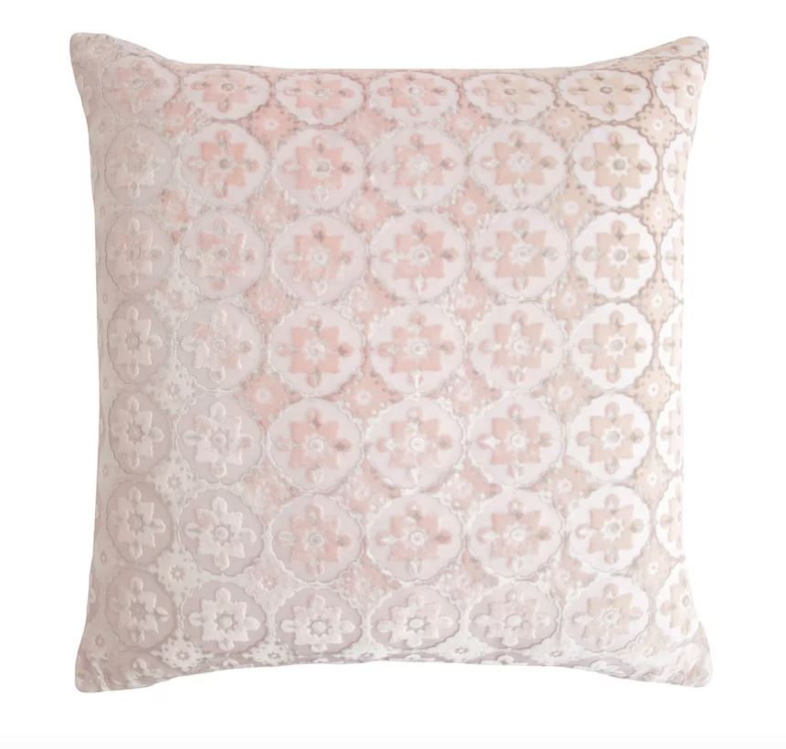 Fig Linens - Small Moroccan Blush Velvet Pillows by Kevin O'Brien Studio