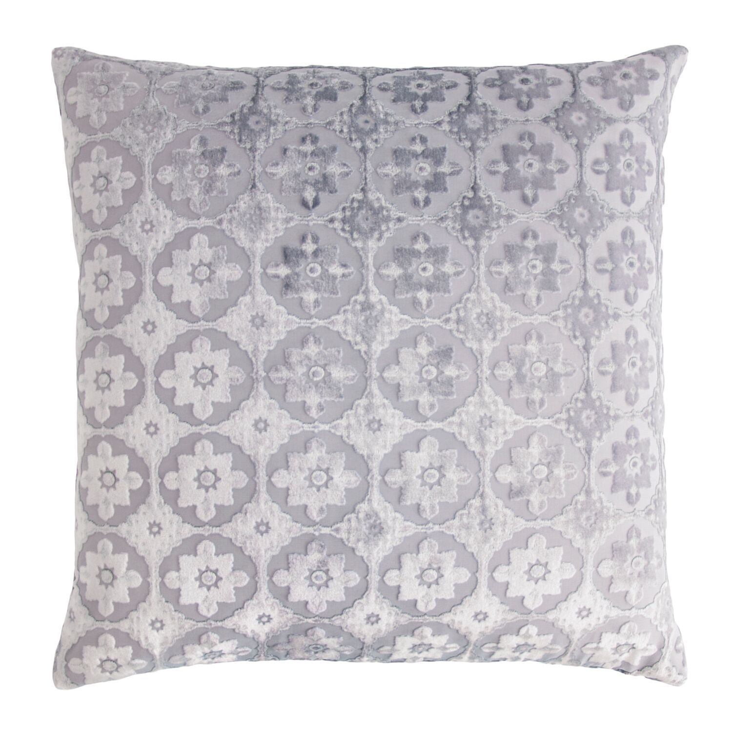 Small Moroccan Silver Gray Velvet Pillows by Kevin O'Brien Studio | Fig Linens