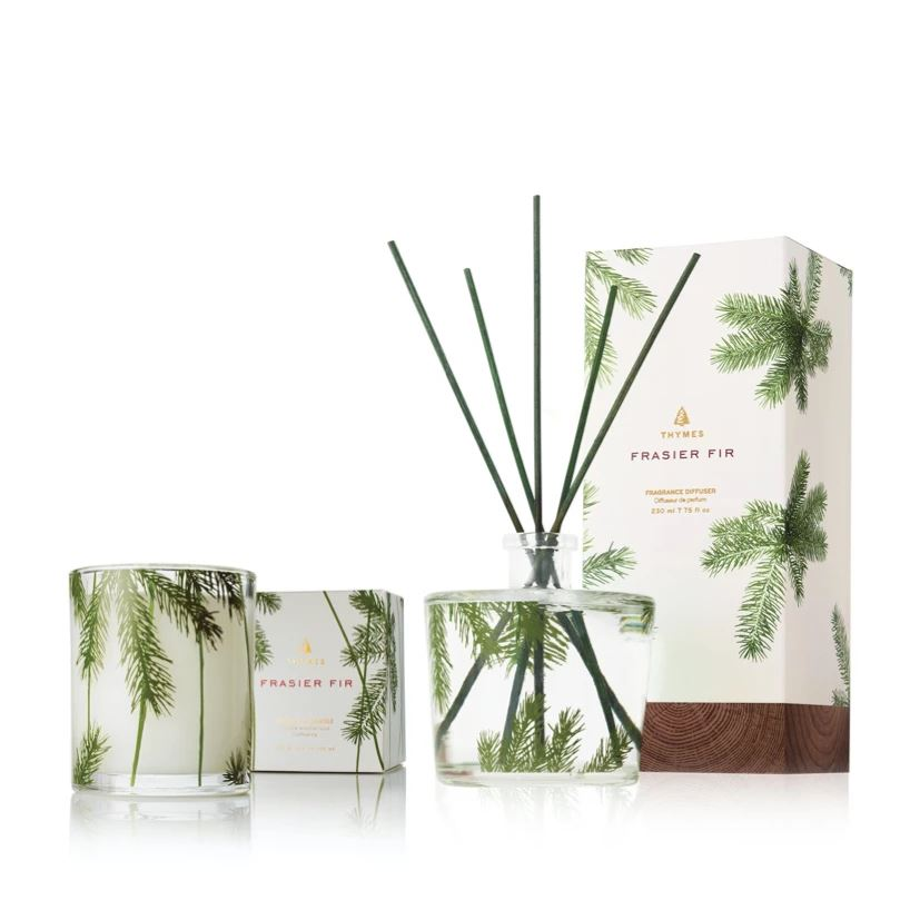 Thymes Frasier Fir Diffuser & Candle Set
