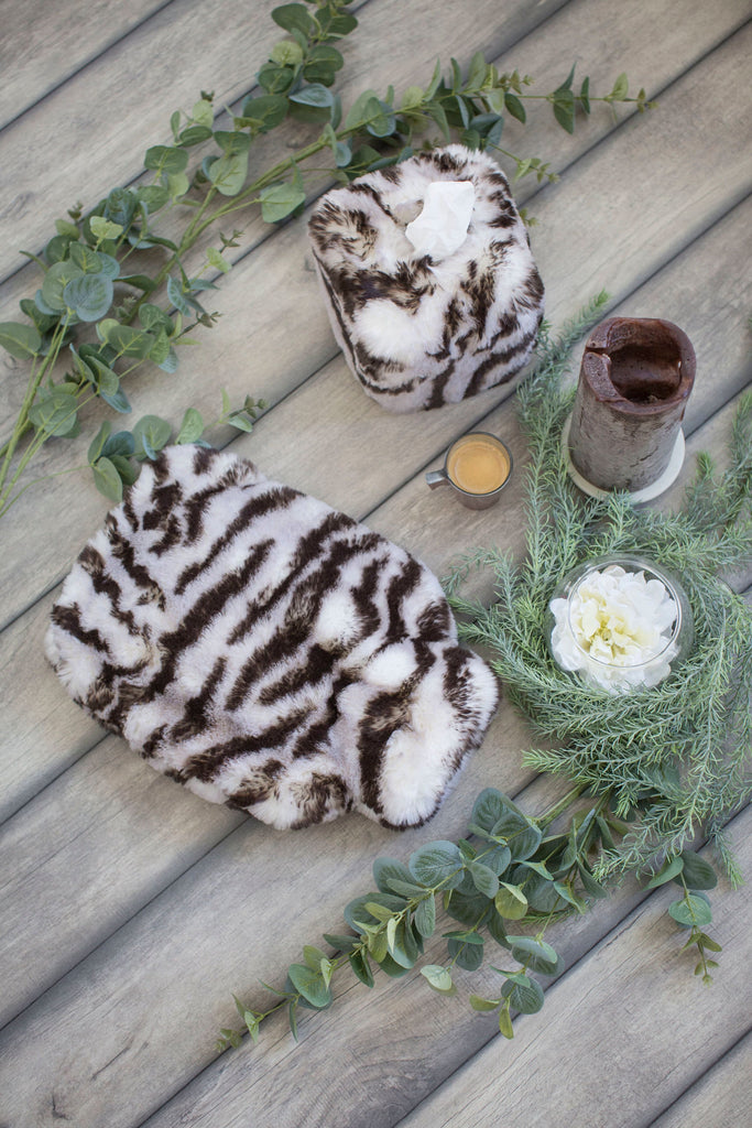 Tiger Faux Fur Hot Water Bottle by Evelyne Prélonge | Fig Linens